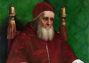 Портрет папы Юлия II написал Рафаэль