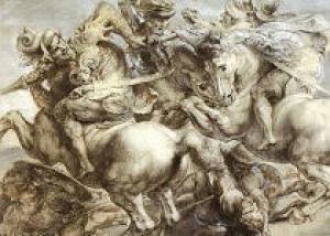 Под фреской Вазари нашли следы фрески Леонардо да Винчи