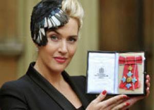 Королева вручила Кейт Уинслет орден Британской империи