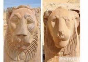 В Фаюмском оазисе найдены две скульптуры львов