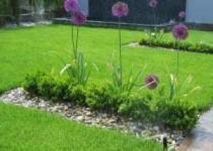 Переделка газона ровной формы