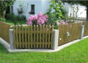 Как построить деревянный забор на даче