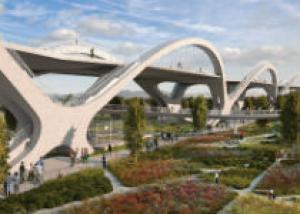 В гармонии с ландшафтом: Реконструкция старого моста в Лос-Анджелесе