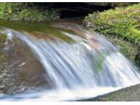 Мини-водопад в саду