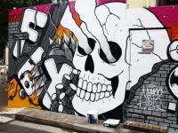 Известный граффити-художник Nemco Uno в Центре городской культуры Правда