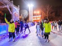 На катке «Лёд» в Сокольниках состоялась репетиция нового года